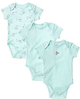 Little Me Baby Girls Newborn-9 Months Floral 3-Pack Bodysuits