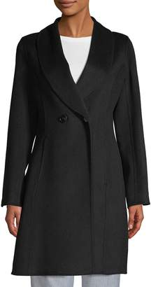 T Tahari Carleigh Fitted Wool Coat