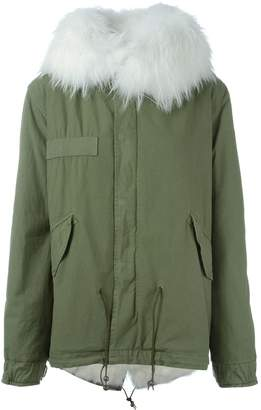 Mr & Mrs Italy fox and raccoon fur lined jacket