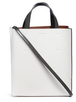 Marni 'Museo' leather shopper tote with removable drawstring bag