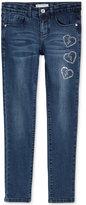 GUESS Embellished Heart Skinny Jeans, Big Girls (7-16)
