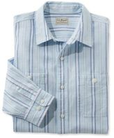 L.L. Bean Linen Cotton Shirt, Slightly Fitted Long-Sleeve Stripe