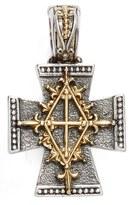 Konstantino Women's 'Hebe' Etched Maltese Cross Pendant