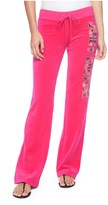 Juicy Couture Logo Velour Sequin Couture Bootcut Pant