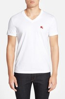 Burberry 'Lindon' V-Neck Cotton T-Shirt