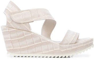 Pedro Garcia Strappy Wedge Heel Sandals