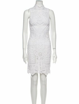 Jonathan Simkhai Lace Pattern Knee-Length Dress White