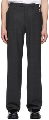 Raf Simons Grey Wool Straight-Fit Pants