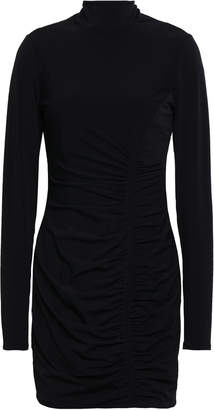 Cinq à Sept Ruched Stretch-jersey Turtleneck Mini Dress