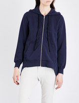 Clu Asymmetric cotton-jersey hoody