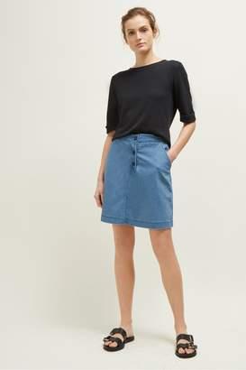 Great Plains Desert Denim Button Short Skirt