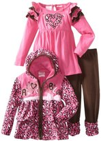 Nannette Girls 2-6X Leopard Adorable Hoddie Set