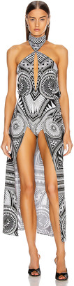 Balmain St. Ray Cape With Short in White & Black | FWRD