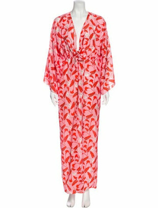 Borgo de Nor Floral Print Long Dress Pink