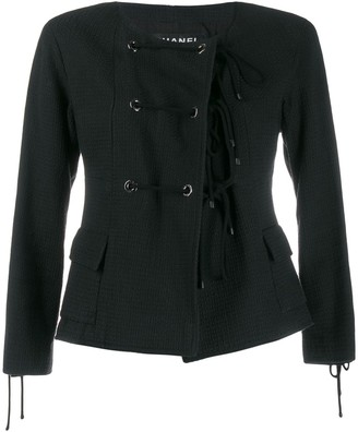 Chanel Pre-Owned 2007's collarless lace-up jacket
