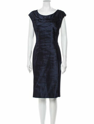 Oscar de la Renta 2013 Midi Length Dress Blue