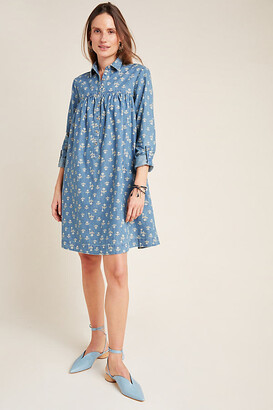 Anthropologie Rochelle Shirtdress By in Blue Size 2