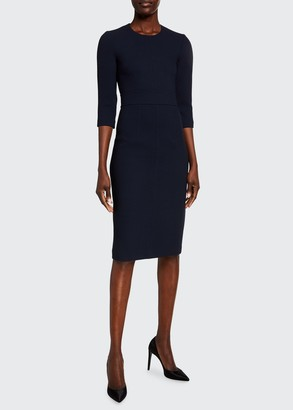 Michael Kors Collection 3/4-Sleeve Crepe Sheath Dress
