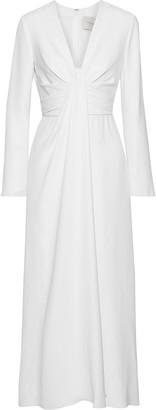 Carolina Herrera Knotted Draped Silk-cady Maxi Dress