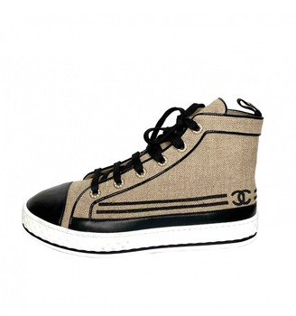 Chanel Beige Cloth Trainers