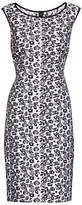 Gina Bacconi Unlined Jacquard Dress, White/Black