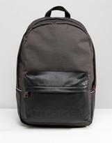 Tommy Hilfiger Logo Backpack In Black