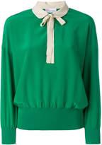 RED Valentino peter pan collar sweatshirt