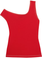 Jacquemus One-shoulder Cotton-jersey Top - Red
