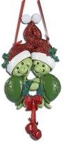 Kurt Adler Turtle Couple Christmas Ornament