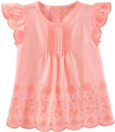 Osh Kosh Oshkosh Short Sleeve Eyelet Cotton Top-Toddler Girls