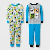 Star Wars Toddler Boys' 4pc Pajama Set - Blue