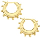 Temple St. Clair Classic Gold 18K Yellow Gold Dangle Hoop Earrings