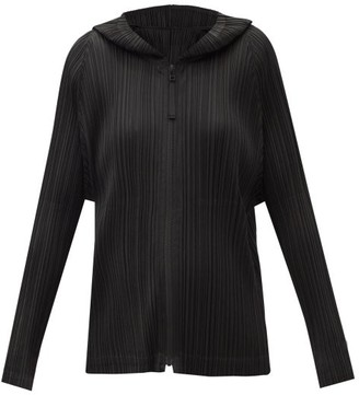 Pleats Please Issey Miyake Hooded Technical-pleated Jacket - Black