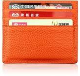 MuLier RFID Blocking Genuine Leather Slim Front Pocket Leather Wallets Thin Card Holder