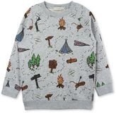 Stella McCartney billy grey explorer print jumper