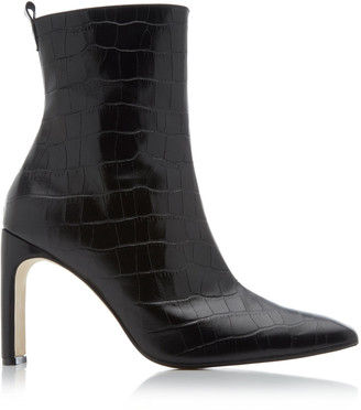 Miista Marcelle Croc-Embossed Leather Boots