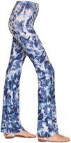 Black Coral Tie Dye Print Jersey Flared Leggings