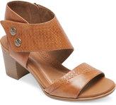 Rockport Hattie Two-Piece Cuff Block-Heel Sandals Women's Shoes