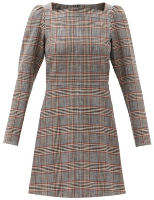 See by Chloe Square-neck Checked Canvas Mini Dress - Multi