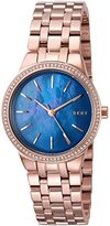 DKNY Women's 'Park Slope' Quartz Stainless Steel Casual Watch, Color:Rose Gold-Toned (Model: NY2573)