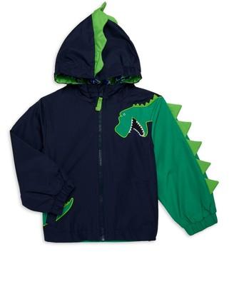 London Fog Baby Boy's 3D Dino Raincoat