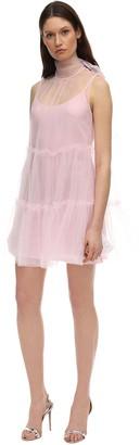 Brognano Ruffled Tulle Mini Dress