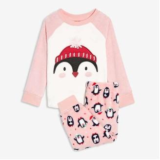 Joe Fresh Toddler Girls' 2 Piece Fleece Sleep Set, Red (Size 2)
