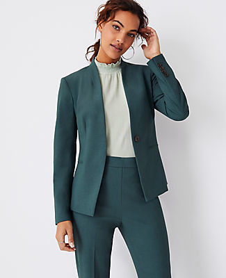 Ann Taylor The Cutaway Blazer in Bi-Stretch