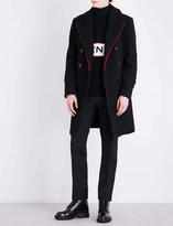 Givenchy Frayed wool-blend coat
