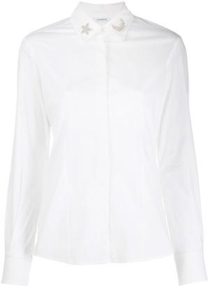P.A.R.O.S.H. embellished collar shirt