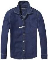 Tommy Hilfiger TH Kids Solid Indigo Shirt