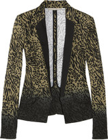 Bridget animal-print stretch-cotton drill blazer