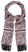 Valentino Paisley Logo Scarf w/ Tags