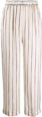 Peserico Striped Print Cropped Length